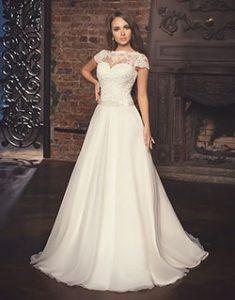 A-სილუეტური საქორწინო კაბა